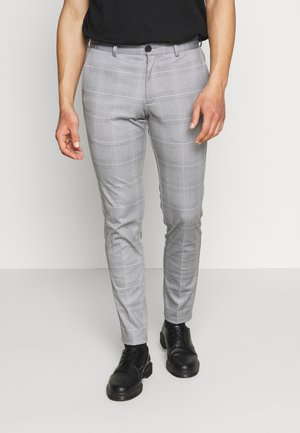 JJIMARCO JJPHIL NOR CHECK - Trousers - light gray
