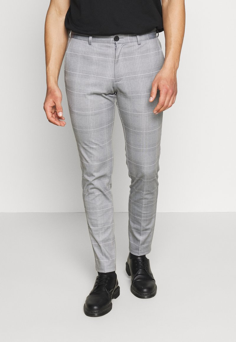 Jack & Jones - JJIMARCO JJPHIL NOR CHECK - Trousers - light gray