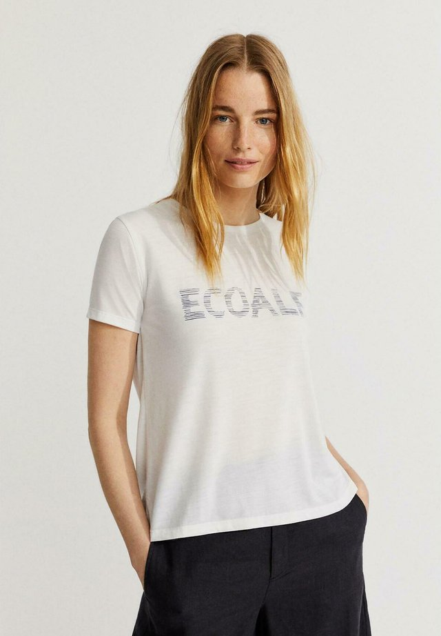 Camiseta estampada - blanco