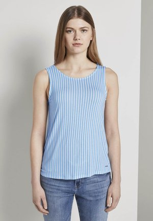 TOM TAILOR DENIM T-SHIRT GEMUSTERTES TOP AUS JERSEY - Top - blue white vertical stripe