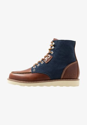 WORK BOOT - Lace-up ankle boots - brown