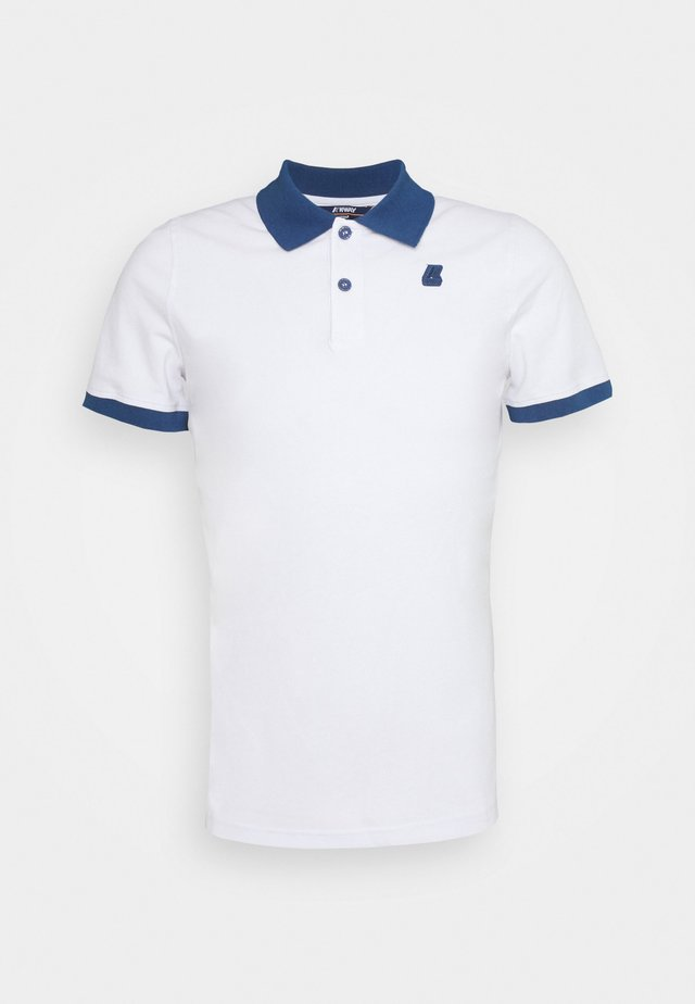 VINCENT UNISEX - Poloshirts - white/blue