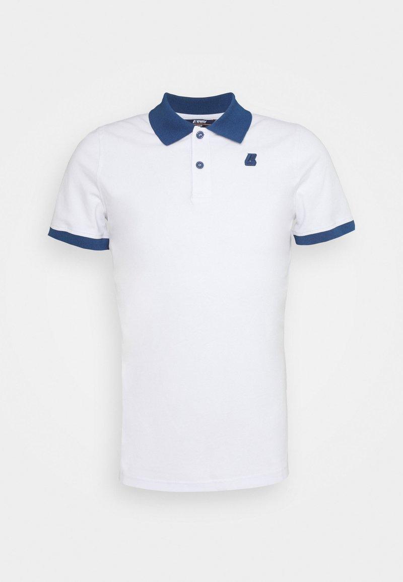 K-Way - VINCENT UNISEX - Polo shirt - white/blue