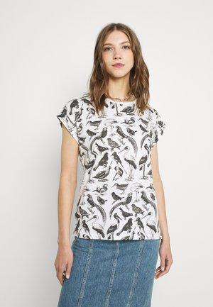 VISBY BIRDS - Print T-shirt - whisper white