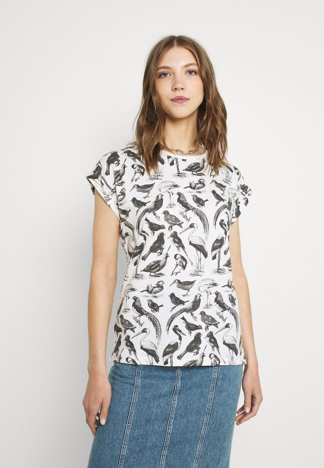 VISBY BIRDS - T-shirt con stampa - whisper white