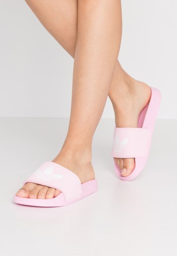 ADILETTE LITE - Mules - true pink/footwear white