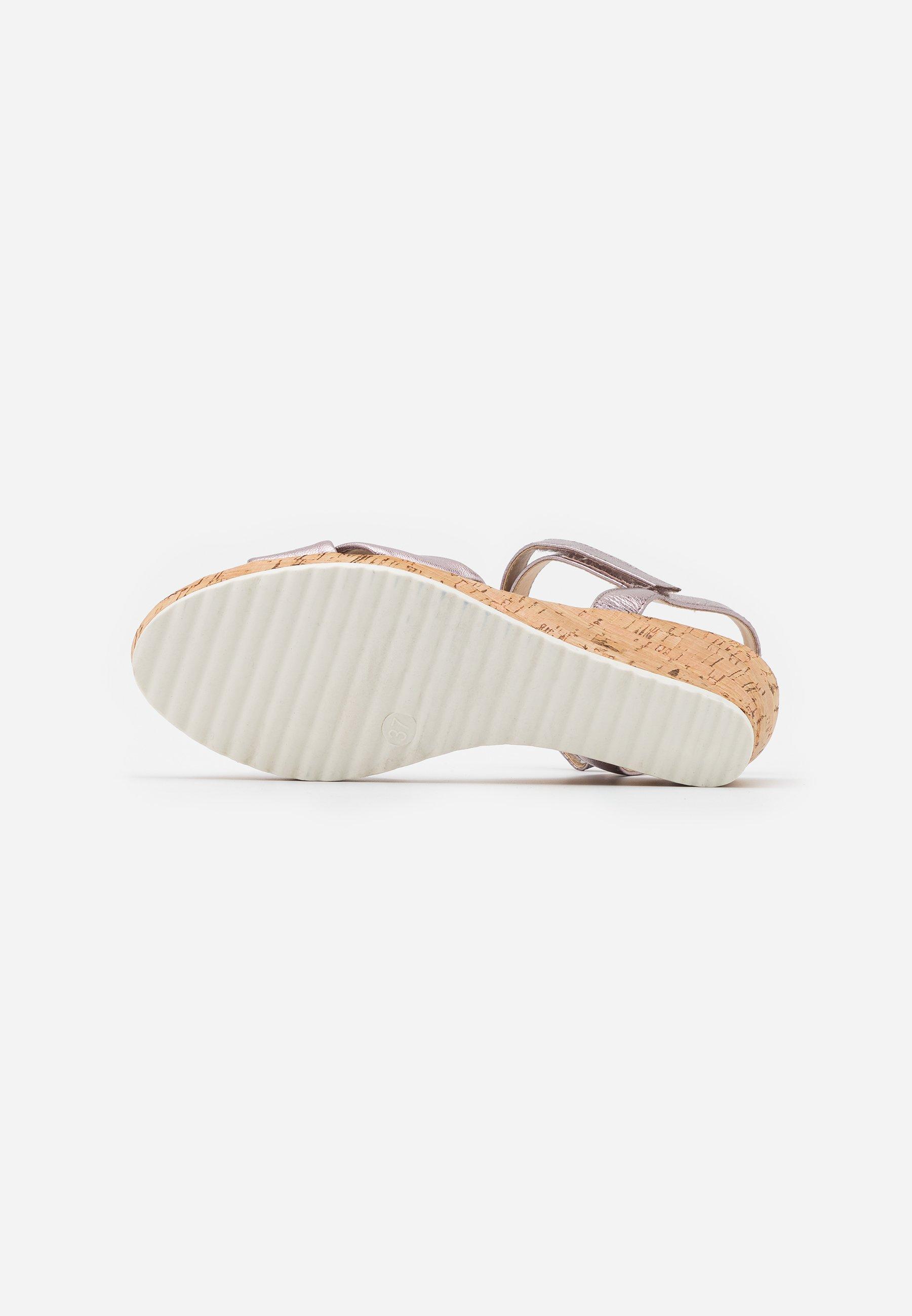 Caprice Sandales à plateforme - soft pink metallic - Sandales & Nu-pieds femme Classique