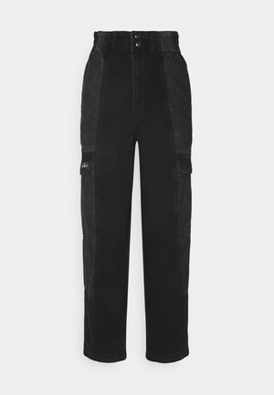 COLOR BLOCK BLAINE - Relaxed fit jeans - black