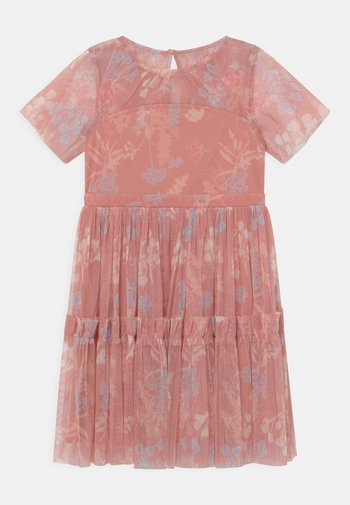 RUFFLE DRESS - Cocktail dress / Party dress - coral