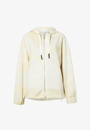 PINTUCKS CAMO - Zip-up hoodie - white