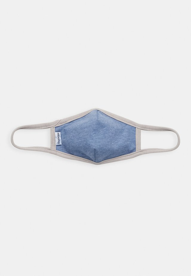KIDS FACEMASK - Stoffmaske - blue/grey