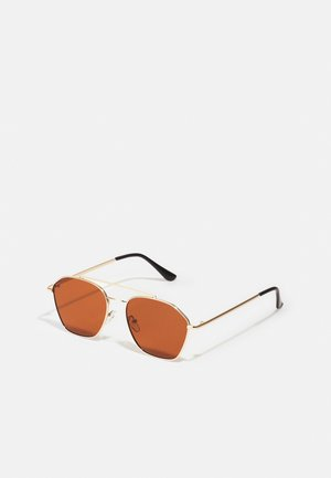 ONSSUNGLASS FANCY UNISEX - Sunglasses - brown stone/gold-coloured