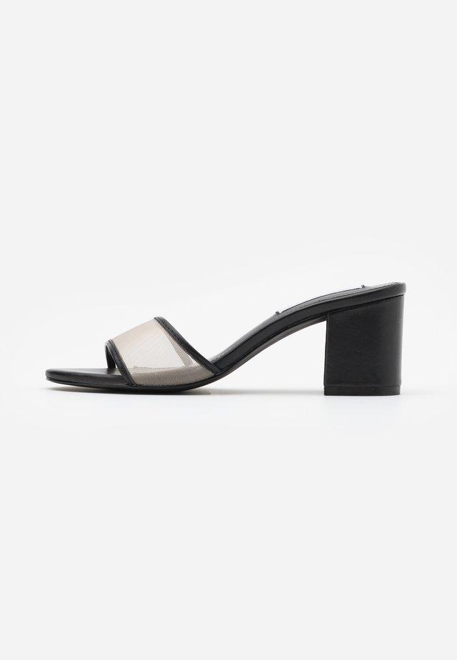 LORELL - Heeled mules - black/multicolor
