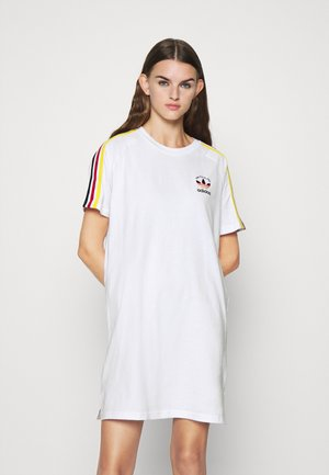 STRIPES SPORTS INSPIRED REGULAR DRESS - Jersey dress - white/multicolor