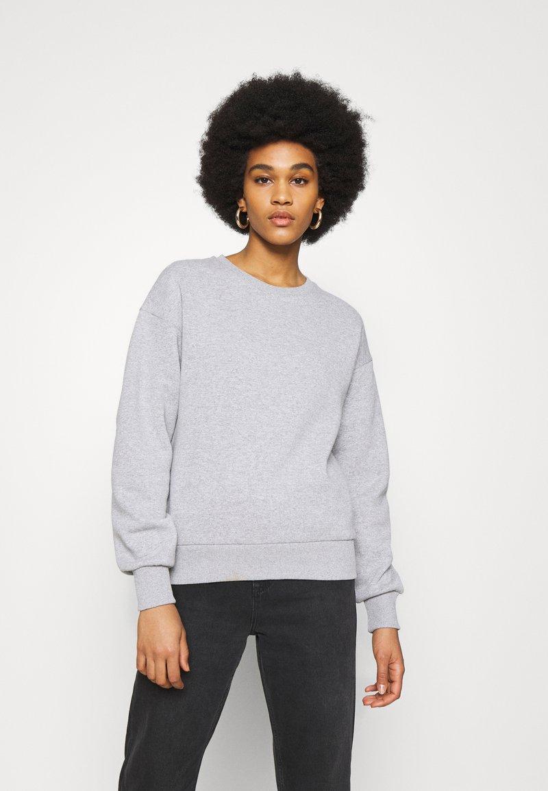 NU-IN - BASIC CREW NECK  - Sweatshirt - grey marl