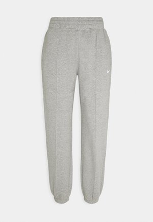 PANT TREND - Tracksuit bottoms - dark grey heather/matte silver/white