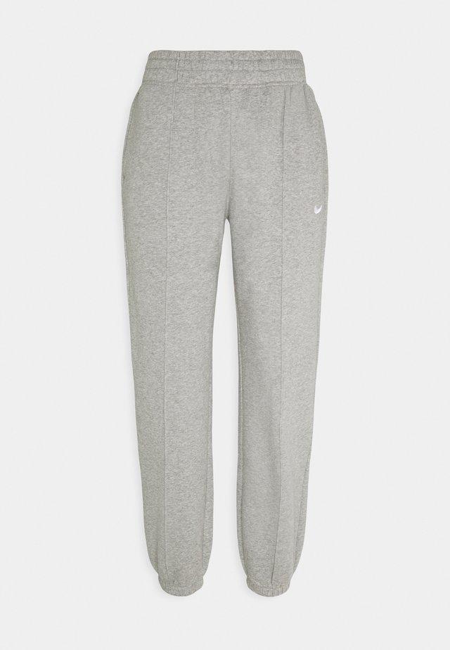 PANT TREND - Verryttelyhousut - dark grey heather/matte silver/white