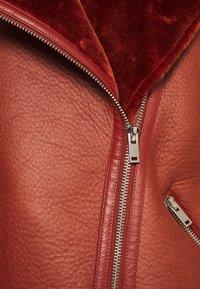 NA-KD - BONDED AVIATOR JACKET - Winter jacket - rust - 2