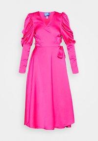 Cras - ALMACRAS WRAP DRESS - Day dress - shocking pink - 4