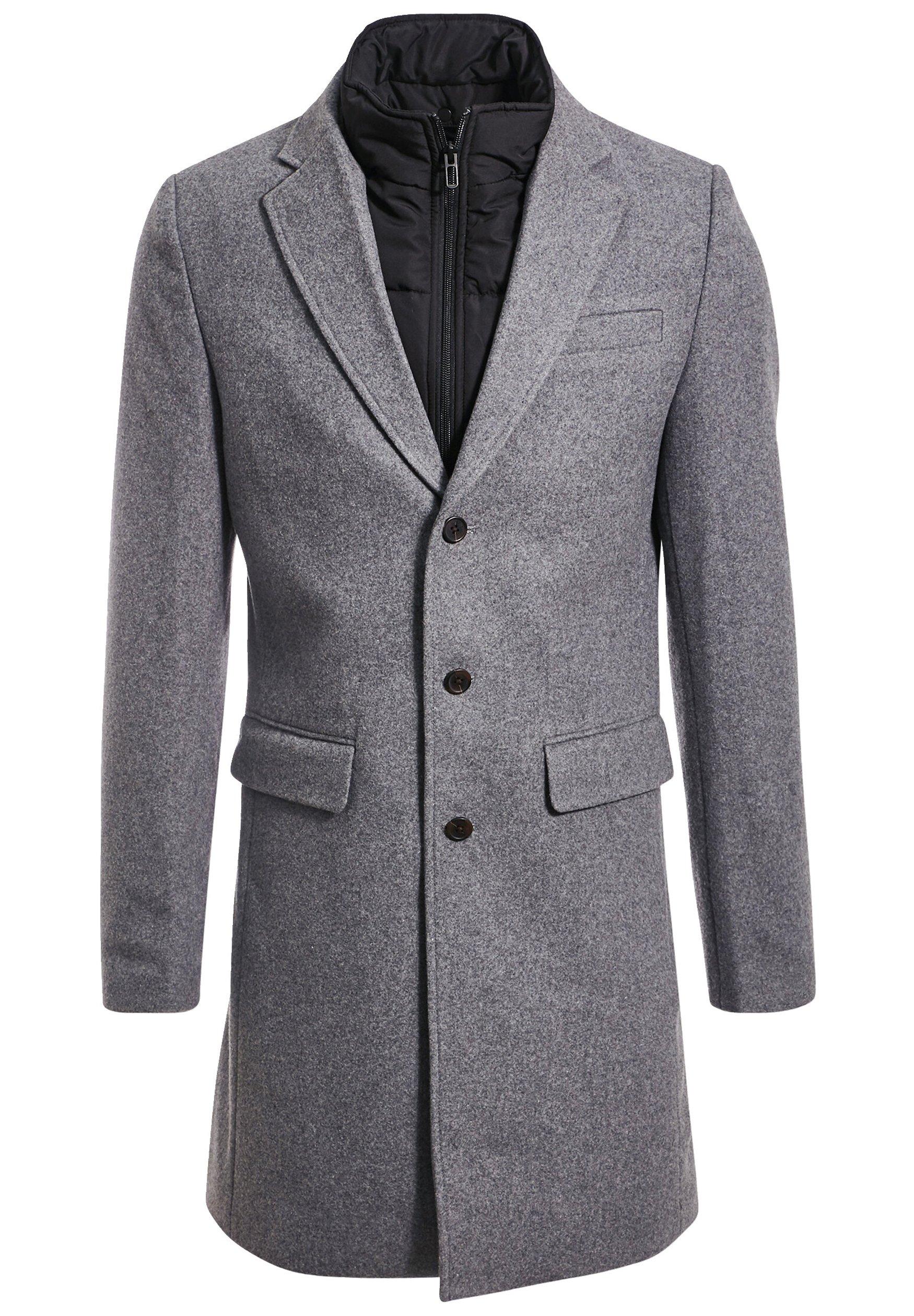 BONOBO Jeans Manteau classique gris foncé ZALANDO.FR