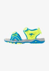 neon yellow/brillant blue