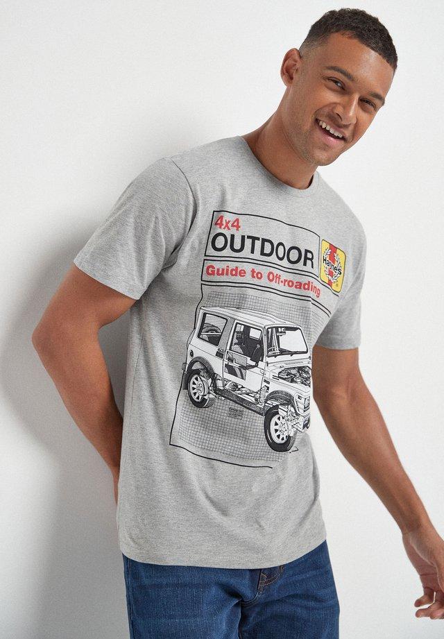 LICENCE - T-shirt imprimé - light grey