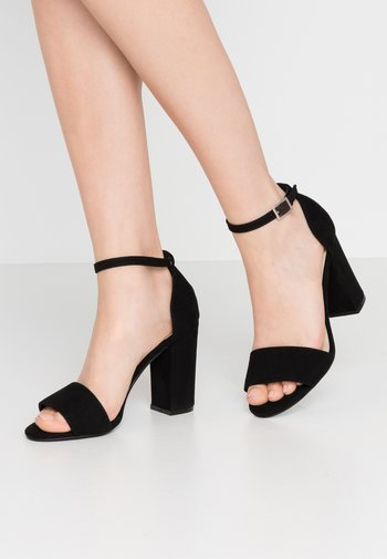 BLOCK  - Sandaler med høye hæler - black