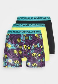 MUCHACHOMALO - ACIDD 3 PACK - Boxerky - yellow/black - 4