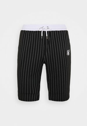 PINSTRIPE - Szorty - black/white