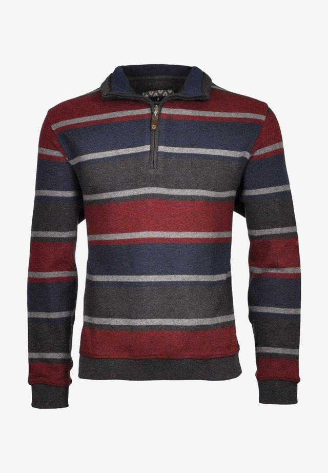MIT STEHKRAGEN - Sweatshirt - dark red