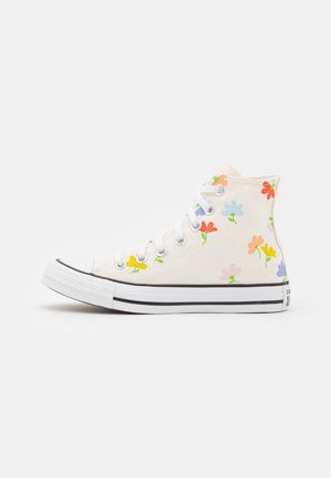 CHUCK TAYLOR ALL STAR GARDEN PARTY PRINT - Korkeavartiset tennarit - egret/black/white