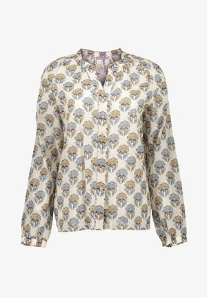 Blouse - off-white/sand combi