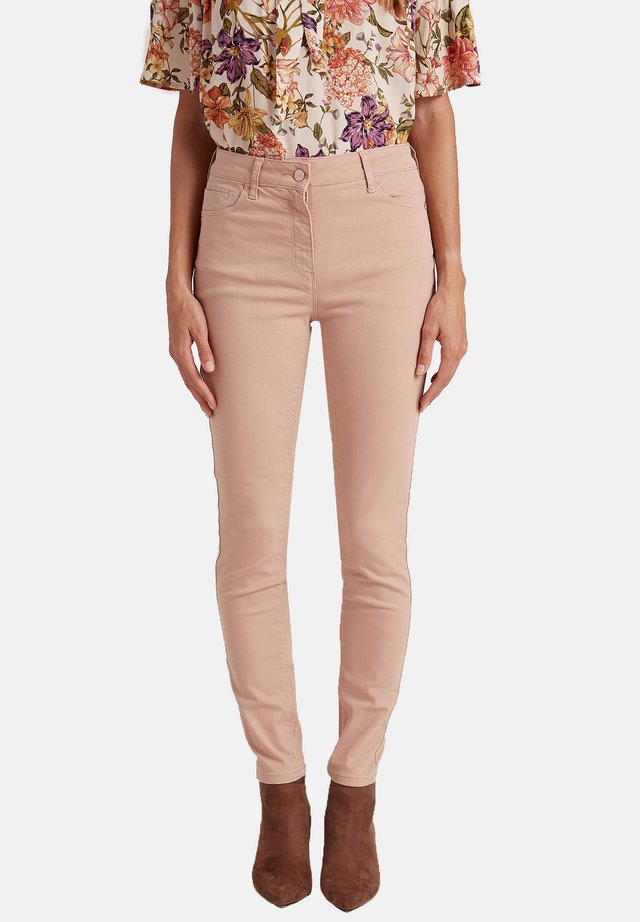 SKINNY IN COTONE - Trousers - rosa