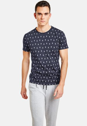 MIT INSEKTENPRINT - Print T-shirt - night blue
