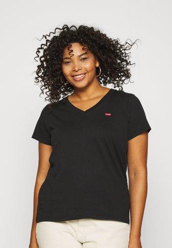 NECK TEE - Basic T-shirt - caviar