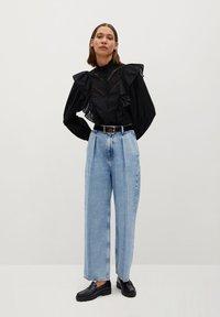 Mango - ROMA - Button-down blouse - zwart - 1