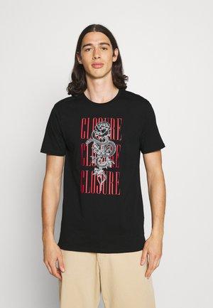 ROCK ROLL ROSE TEE - Print T-shirt - black