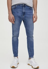 PULL&BEAR - Jean slim - light blue denim - 0