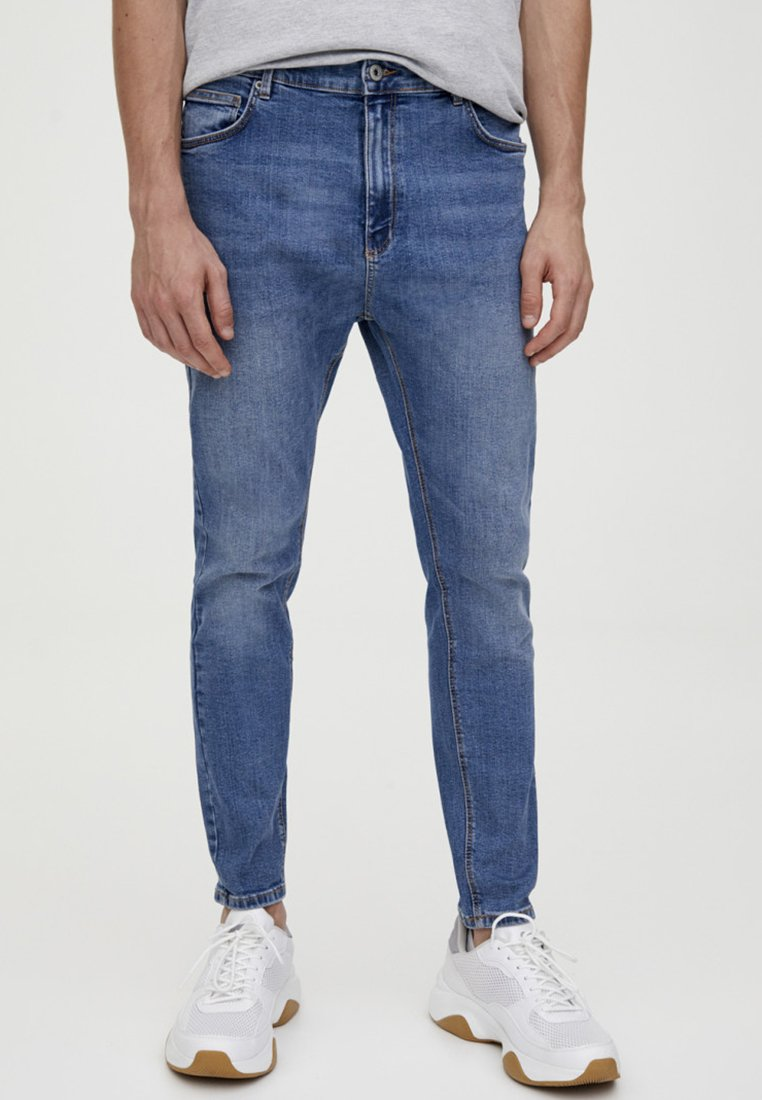 PULL&BEAR - Jean slim - light blue denim
