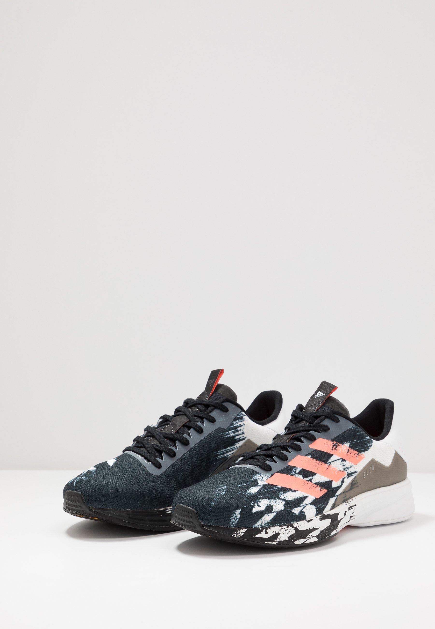 adidas Performance SL20 - Laufschuh Neutral - core black/signal coral/footwear white/schwarz - Herrenschuhe DM1iy