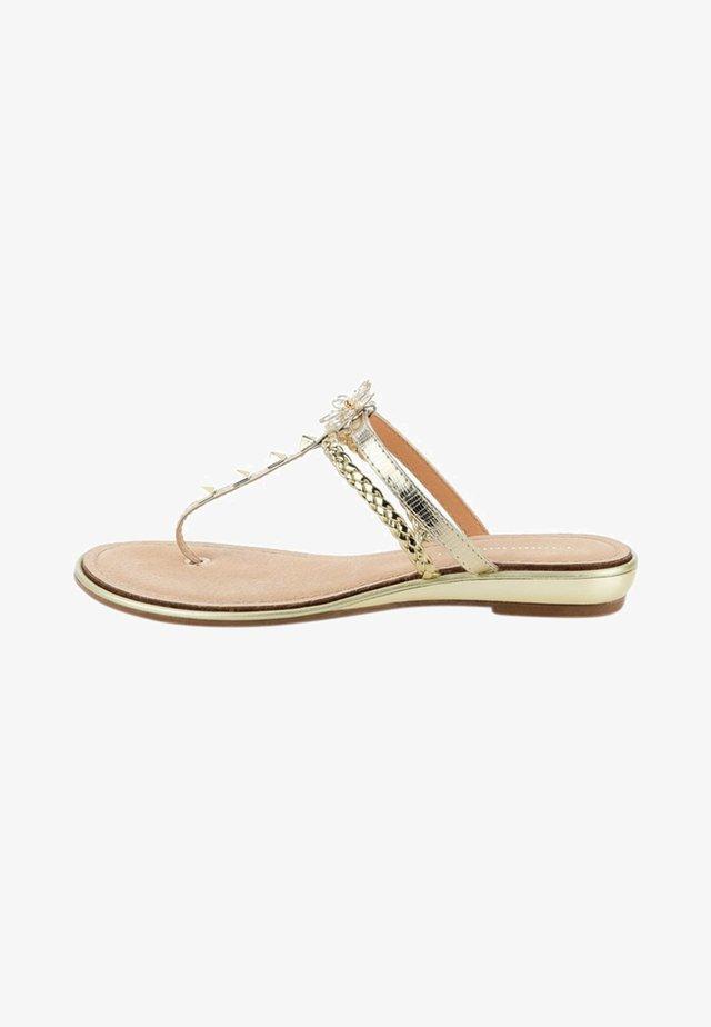 BACOLI - T-bar sandals - gold