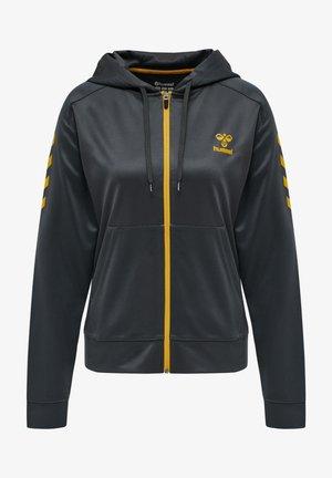 HMLACTION POLY ZIP  - Zip-up sweatshirt - ebony/tawny olive
