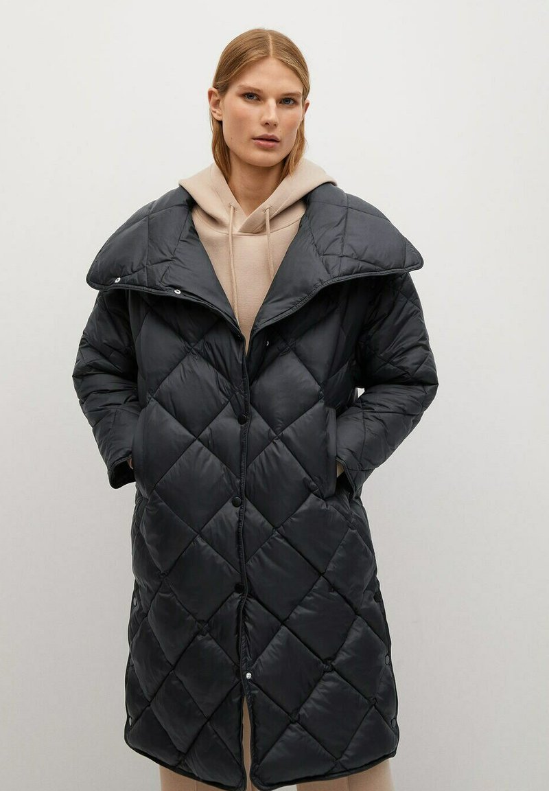 Mango - CROCO - Winter coat - schwarz