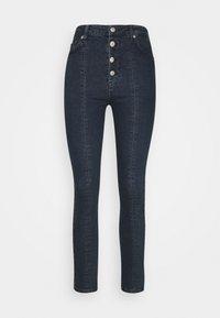 FRONT SEAM HIGH WAIST  - Jeans Skinny Fit - dark denim