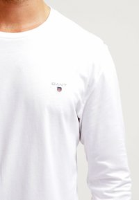 GANT - THE ORIGINAL - Top sdlouhým rukávem - white - 4