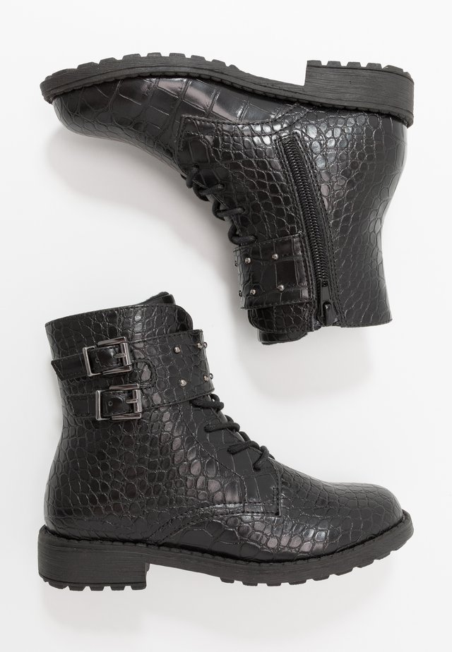 Bottines à lacets - black