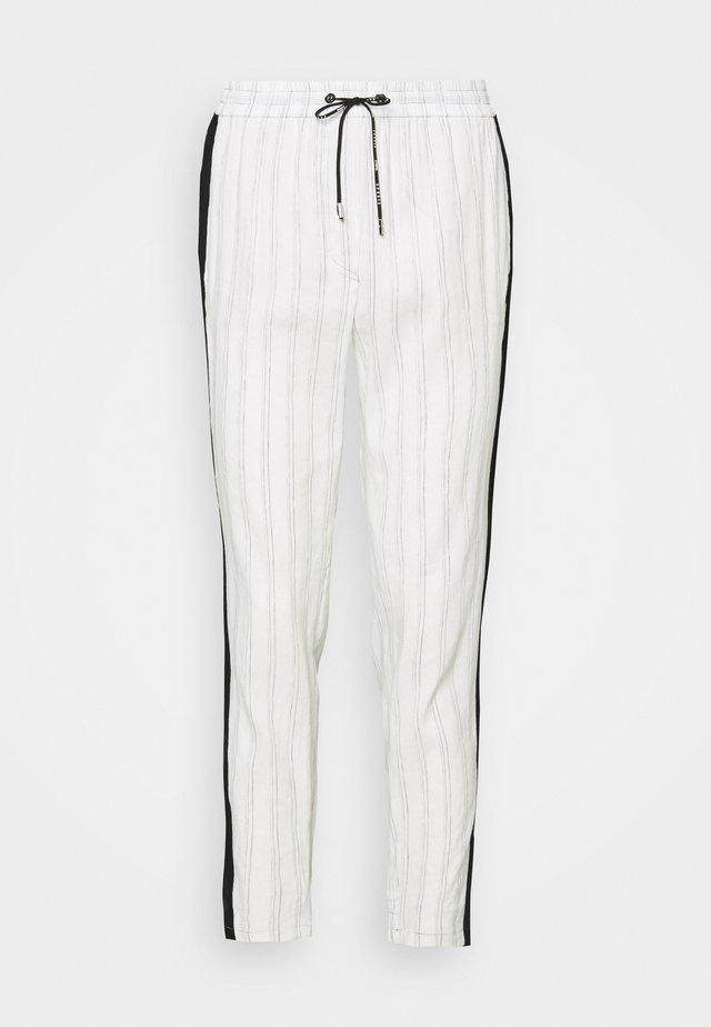 Pantalones - white/black