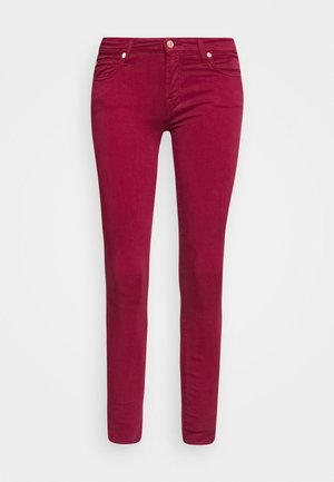 THE SKINNY CROP - Skinny džíny - burgundy