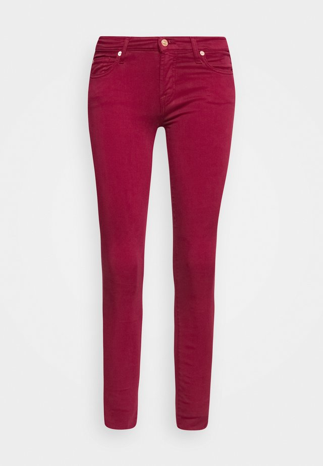 THE SKINNY CROP - Jeans Skinny - burgundy