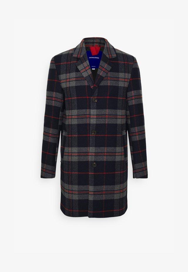 JORBLINDERS CHECKED COAT - Classic coat - navy blazer
